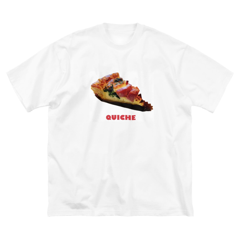 NO ThanQのらぶキッシュ Big silhouette T-shirts