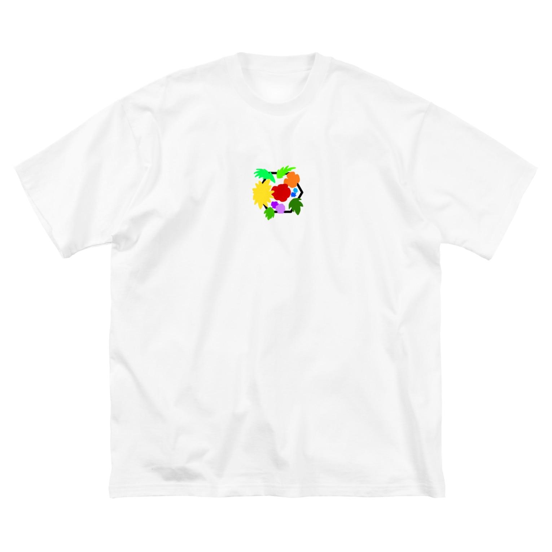 LanbR(ランブル)のブーケ(文字なし) Big silhouette T-shirts