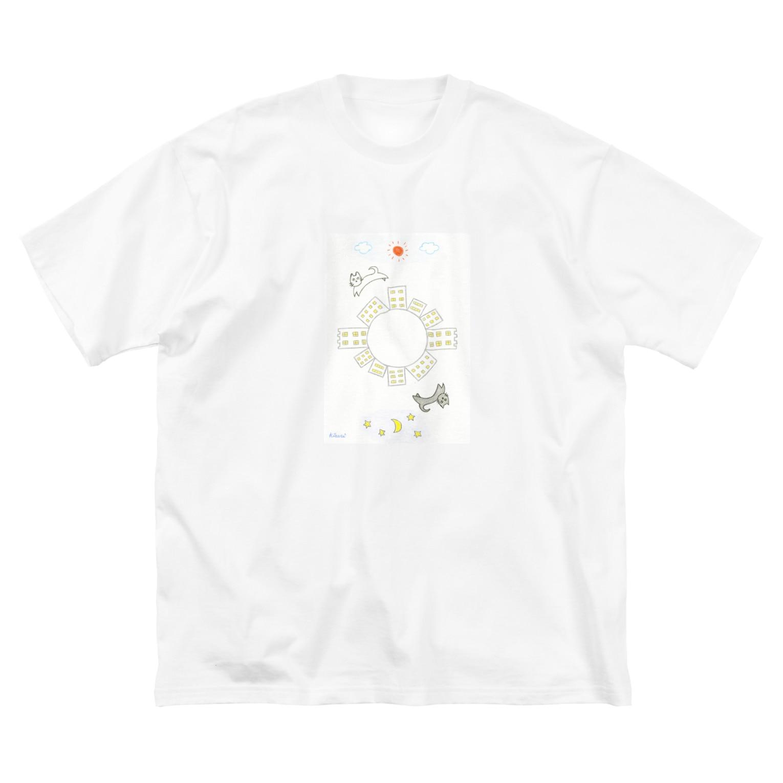 KIRARIの夢色雑貨屋さんの「CAT」 Big silhouette T-shirts
