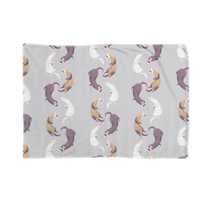 Fanfleecyのferret(gray) Blankets