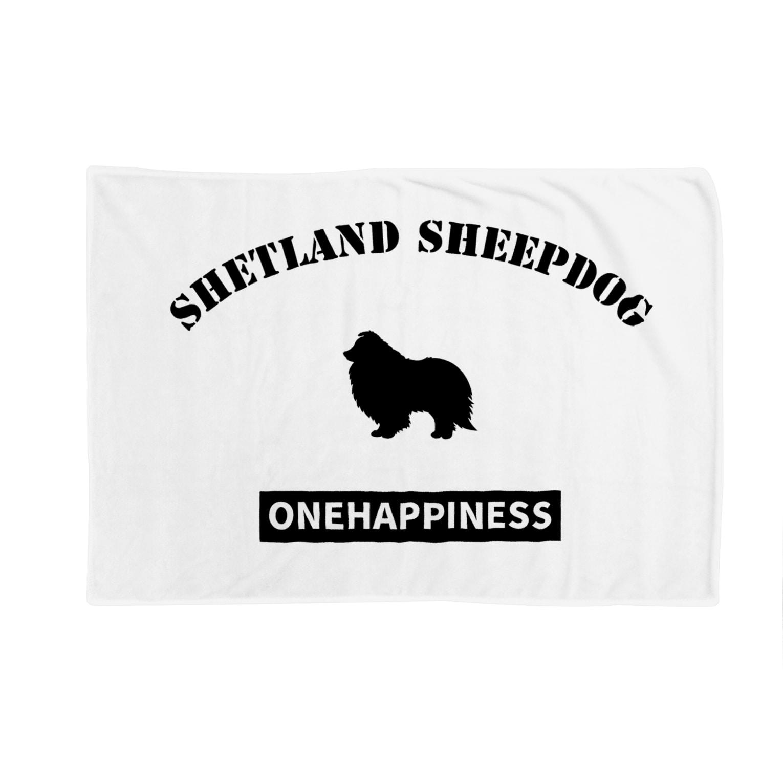 onehappinessのシェットランドシープドッグ Blankets
