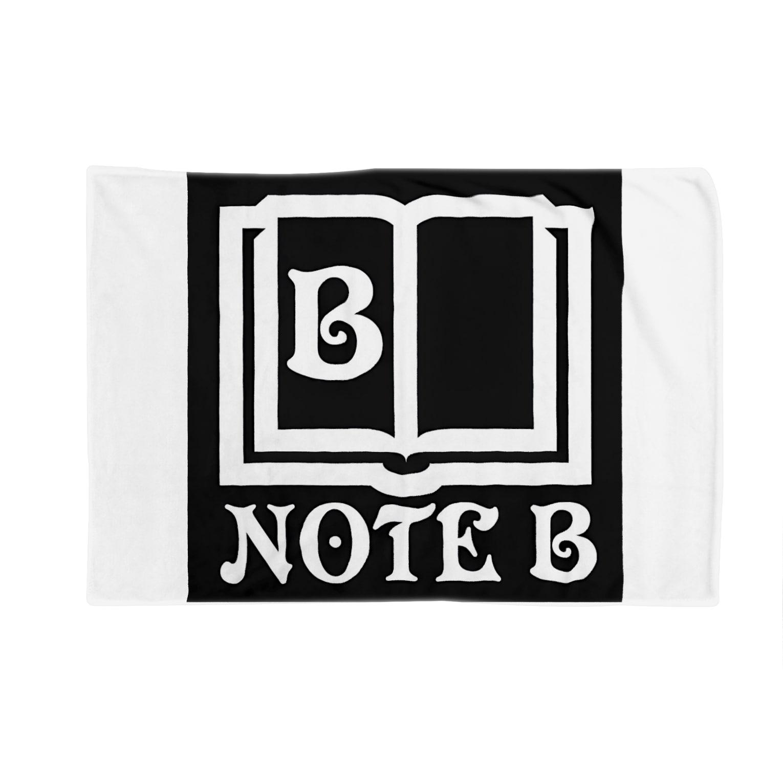 NOTE Bのblack logo Blankets