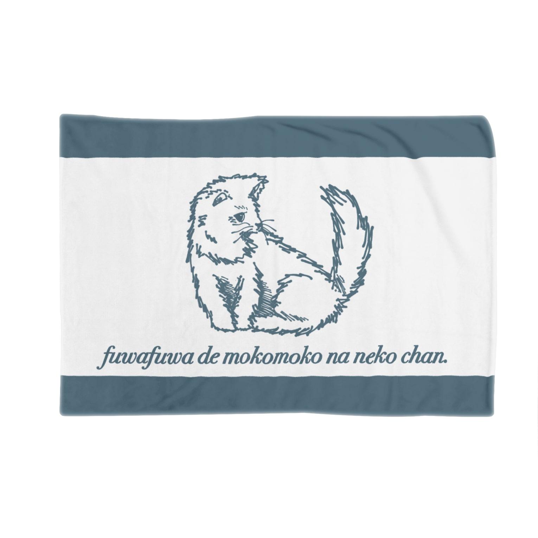 チワワの工房のふわもこねこちゃん (線あり) Blankets