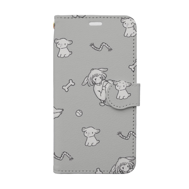 KAREZUの犬=君 Book style smartphone case