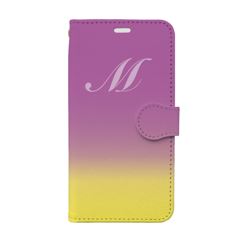 PloughのイニシャルM Book-style smartphone case