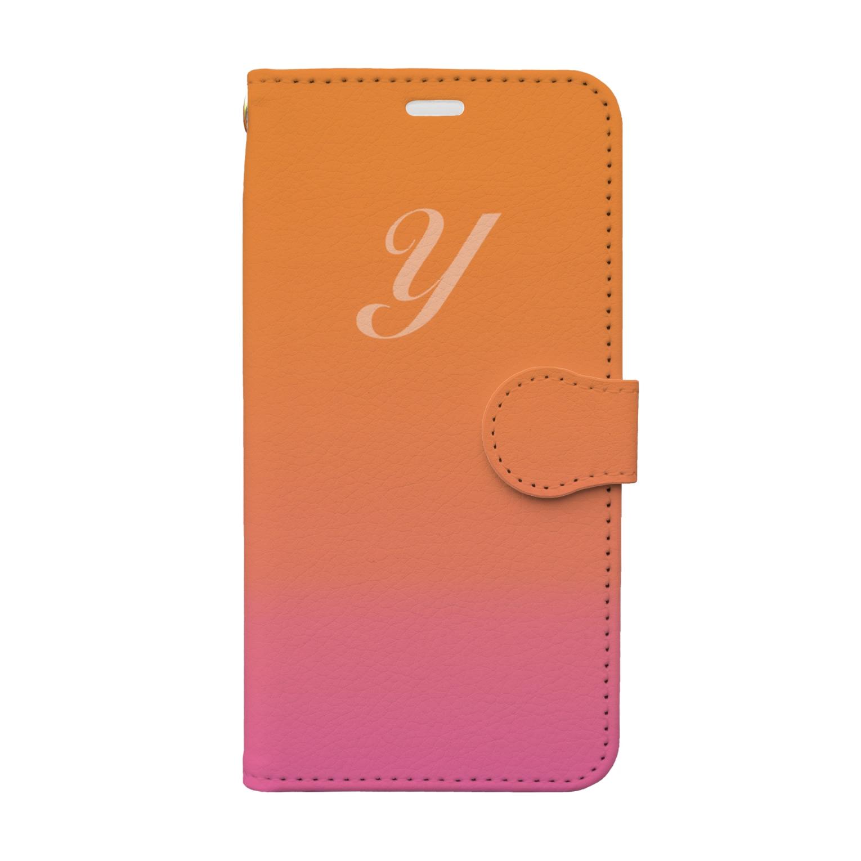 PloughのイニシャルY Book-style smartphone case