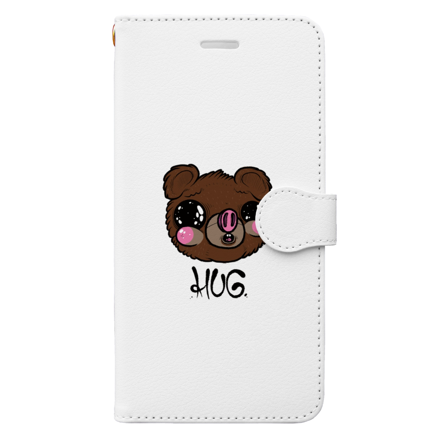HUGオフォシャルショップのFualey White Book-style smartphone case