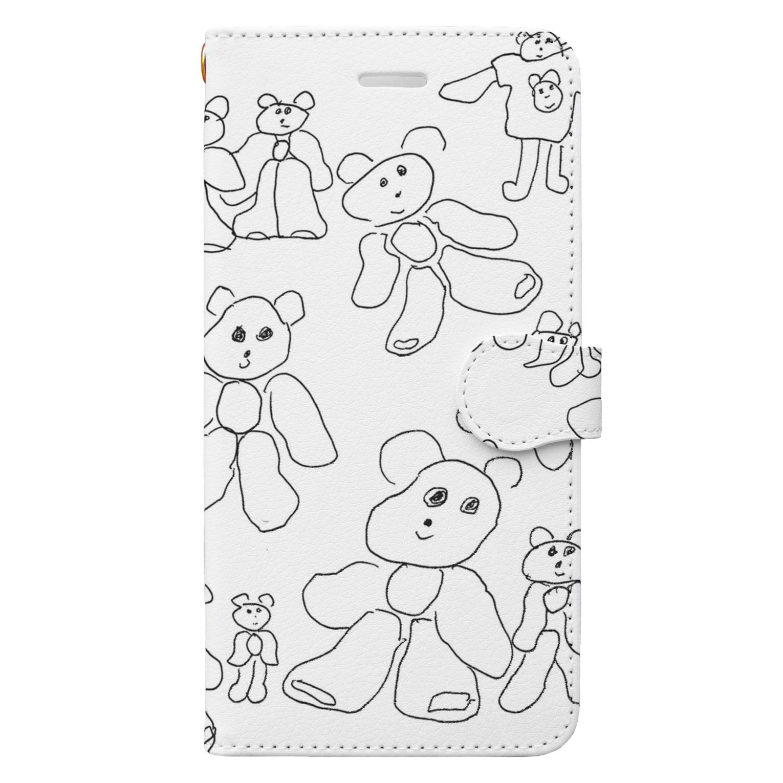 RAITYO TSUMEの線くま Book-style smartphone case