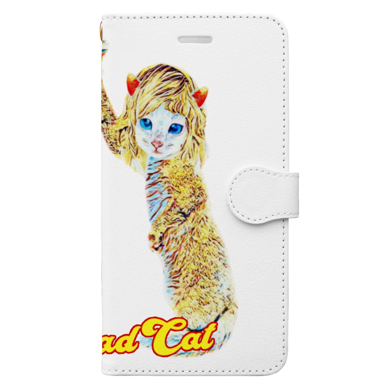 Rock catのBAD CAT ドジっ娘2 Book-style smartphone case