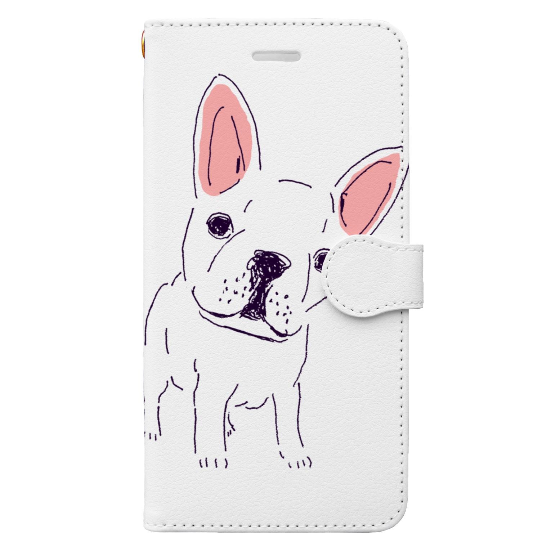 NIKORASU GOのフレンチブル Book-style smartphone case