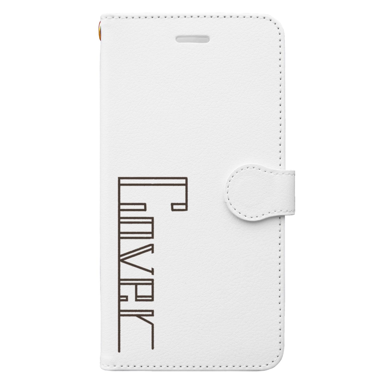 詩欲の【cover】ホワイト Book-style smartphone case