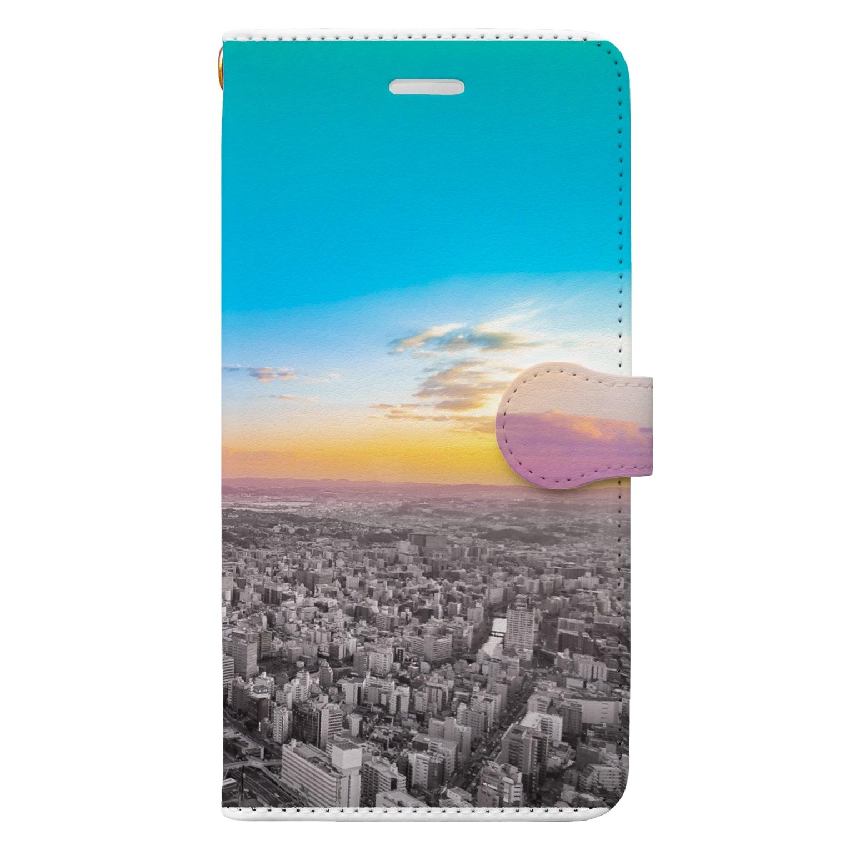 ietona.artのsky_002 Book-style smartphone case