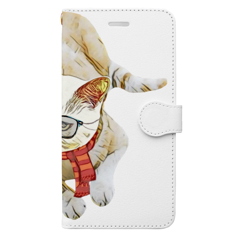 Rock catのメガネCAT Book-style smartphone case