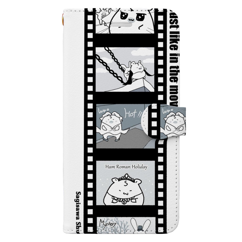 BabyShu shopのシネマ鷺ハムスマホケース Book-style smartphone case