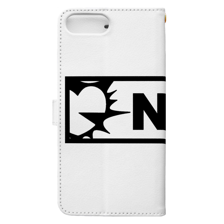 notsuwahisashinのNTWロゴ(黒) Book-style smartphone caseの裏面