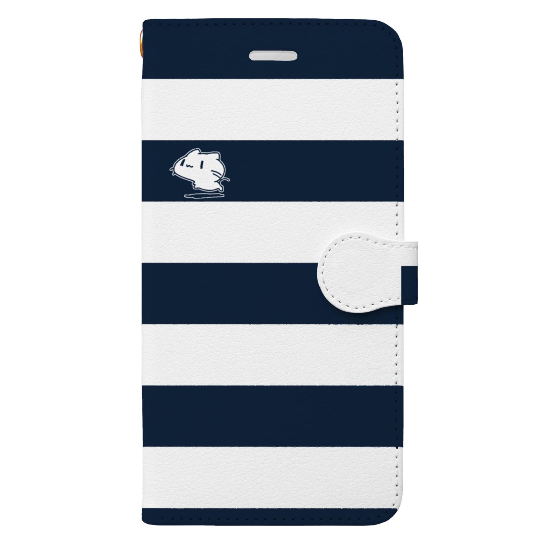 どどど素人のどどねこ-シマシマ- Book-style smartphone case