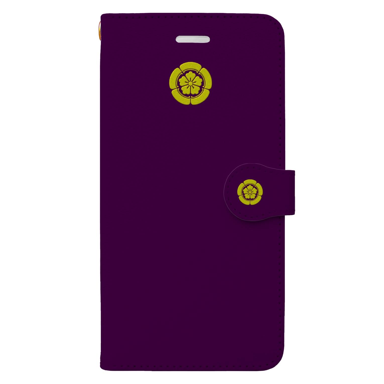 tomo-miseのkamon 織田木瓜 PU(スマホケース・手帳型) Book style smartphone case