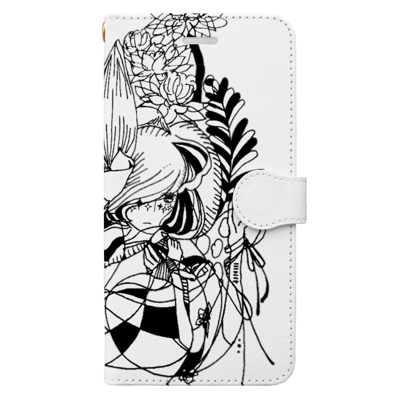 Chig-Hugのhazuki / hitotose Book-style smartphone case