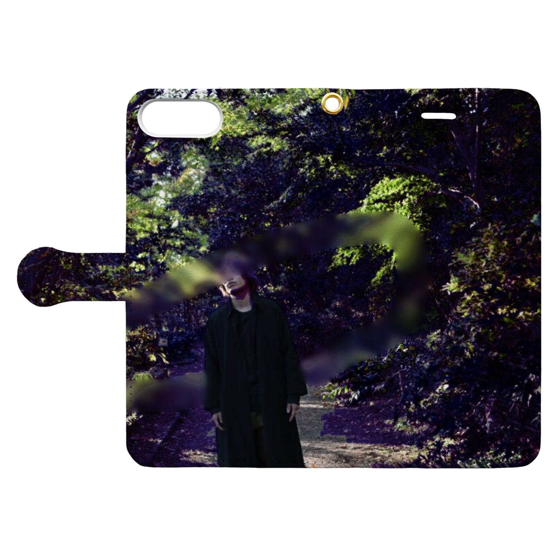 samazamaの秋晴れ Book-style smartphone caseを開いた場合(外側)