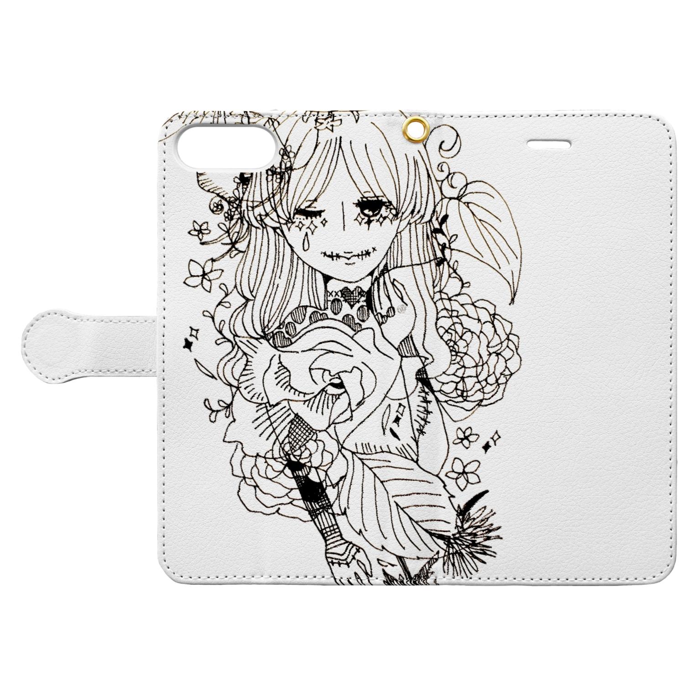 Chig-Hugのfumizuki / hitotose Book-style smartphone caseを開いた場合(外側)