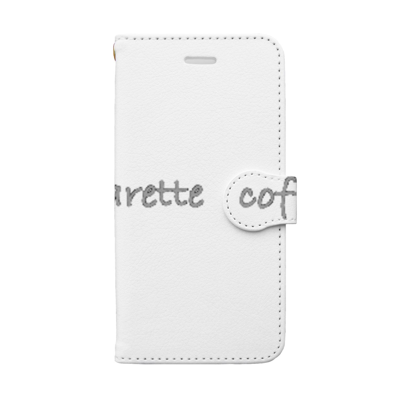 BOOKMARKの珈琲と煙草 Book-style smartphone case