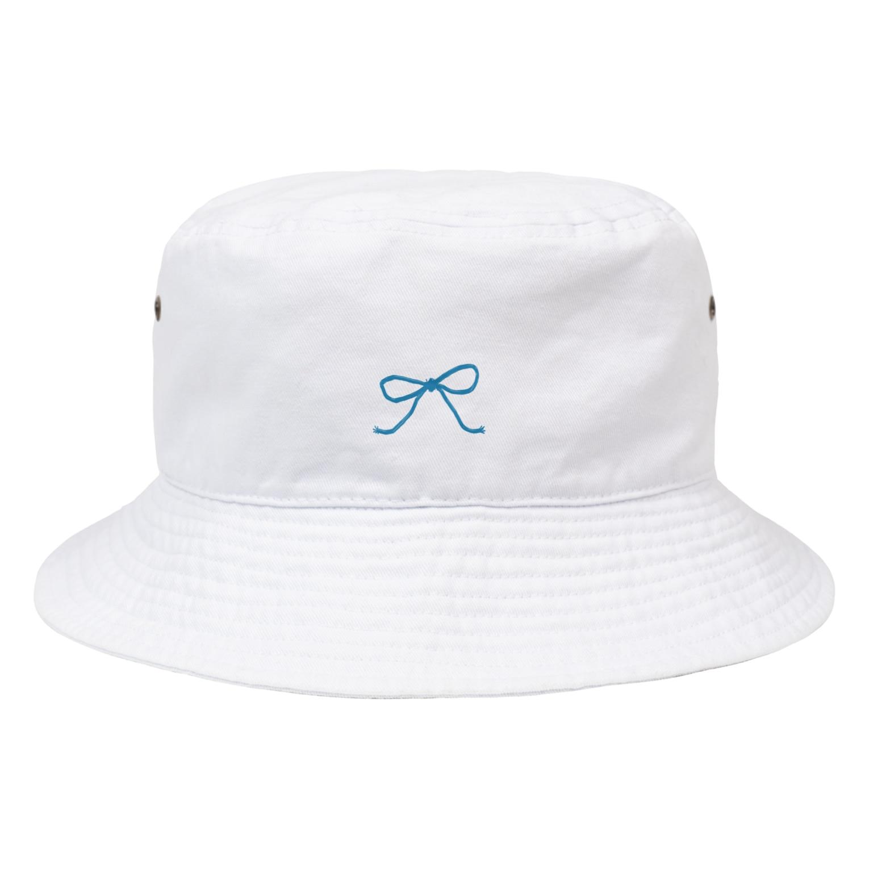 kirin.boutiqueの青いリボン Bucket Hat