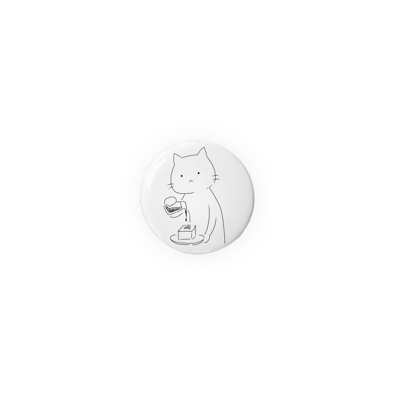 二十八(にそはち)のひややっこに醤油をかける猫 Badges