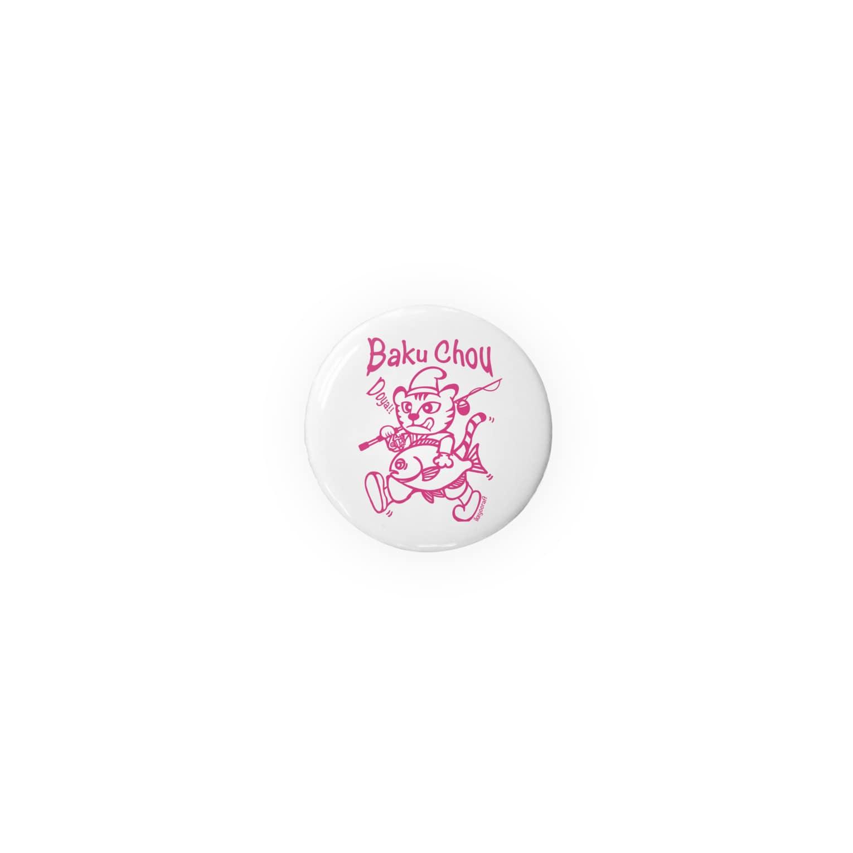 ikeyocraft の爆釣エビスネコ グレ ピンク Badges