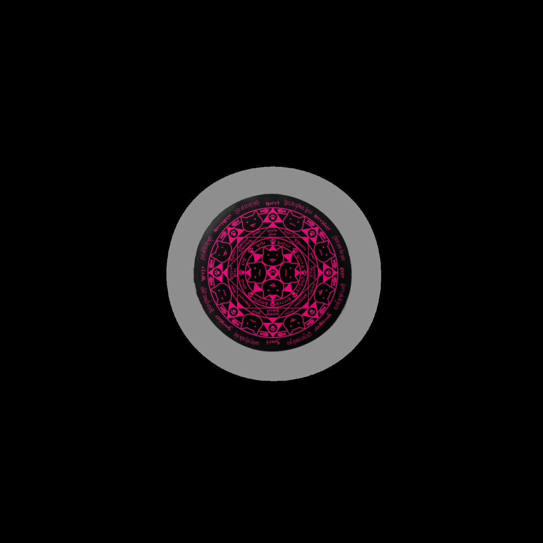 PygmyCat suzuri店の猫召喚魔法陣(ピンク)缶バッジ