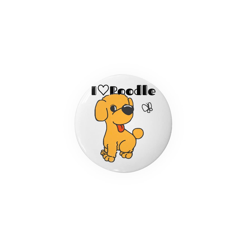 Hi-BoのI Love Poodle Badges