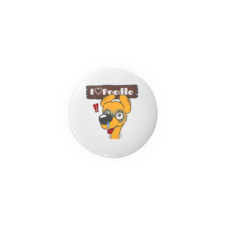 Hi-BoのI Love Poodle(ビクッ!!) Badges