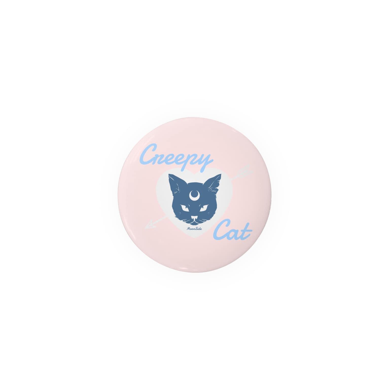 IENITY / MOON SIDEの【MOON SIDE】 Creepy Cat #Pink*Blue 缶バッジ