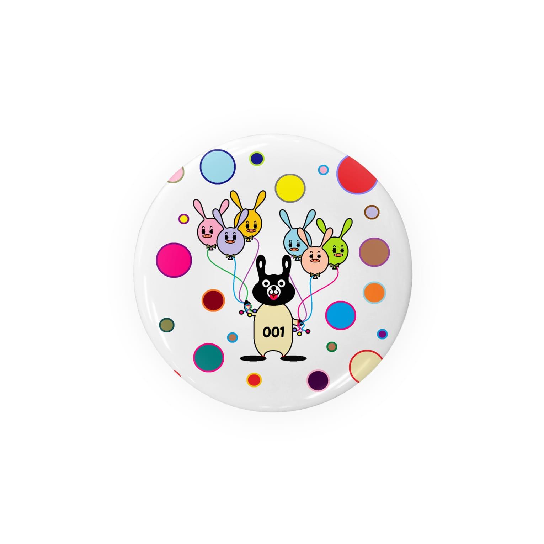 rocoのBLACK BUNNY 001 circle Badges