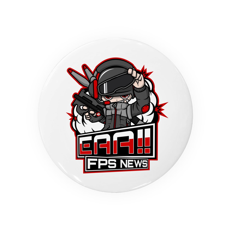 EAA!! Official Store - EAA!! 公式ストアの新ロゴ「EAA(いぇあ)軍曹(仮)」 v2 Badges