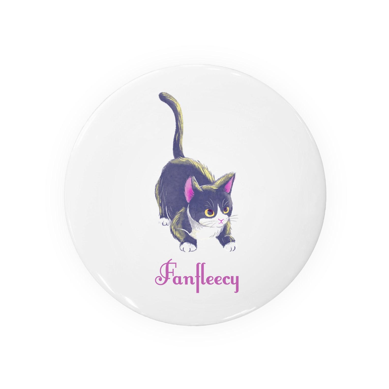 Fanfleecyのmeow meow(black cat) Badges