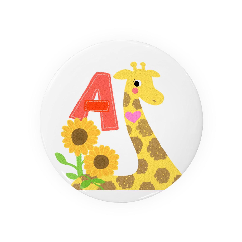 佐藤 雄太@イラスト•マンガ制作のイニシャル『A』キリン Badges
