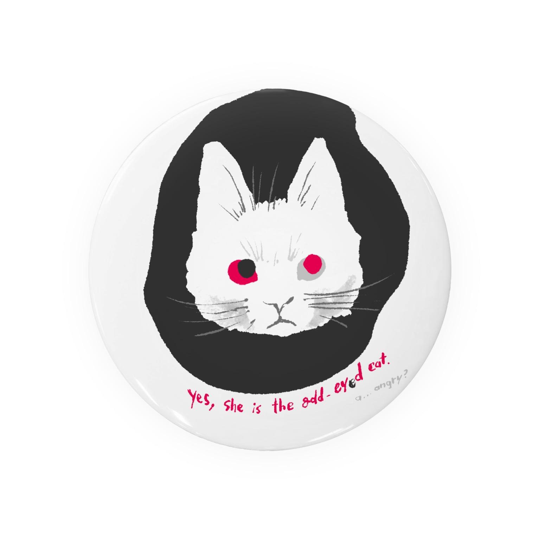 mya-mya=MIYA JUNKO's shop 02のodd-eyed cat Badges