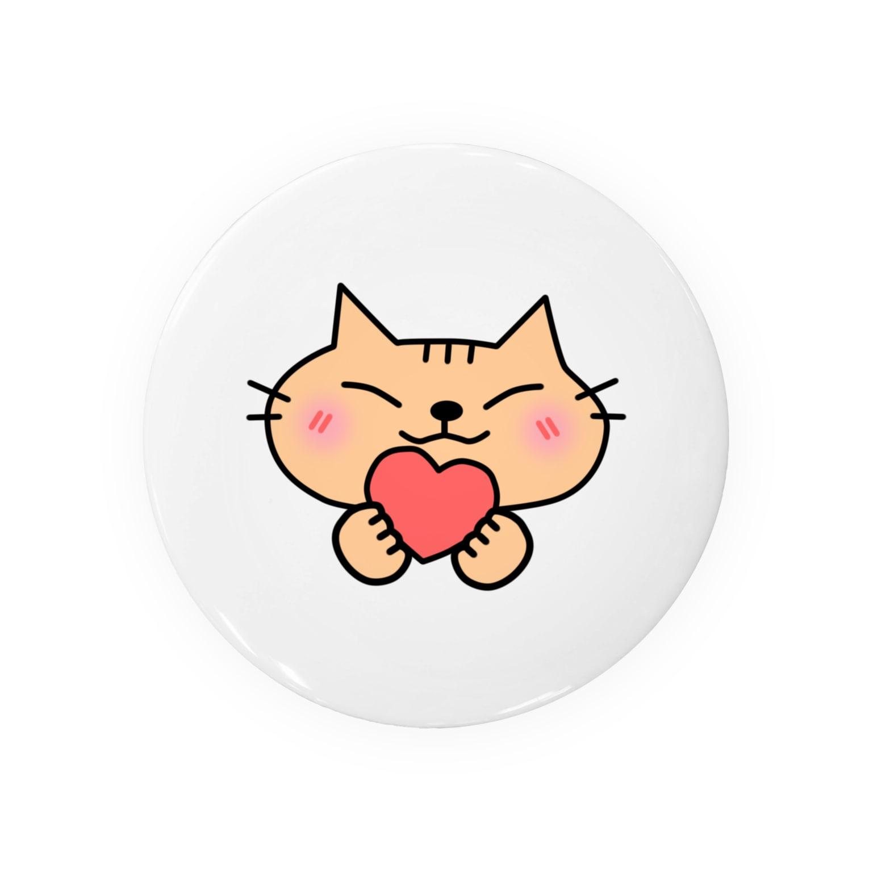 eigoyaのハートと茶トラ猫 Badges