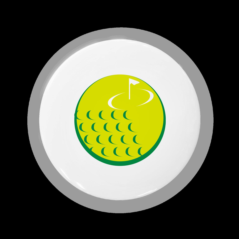 奥山 義徳のゴルフボールモチーフ缶バッジ