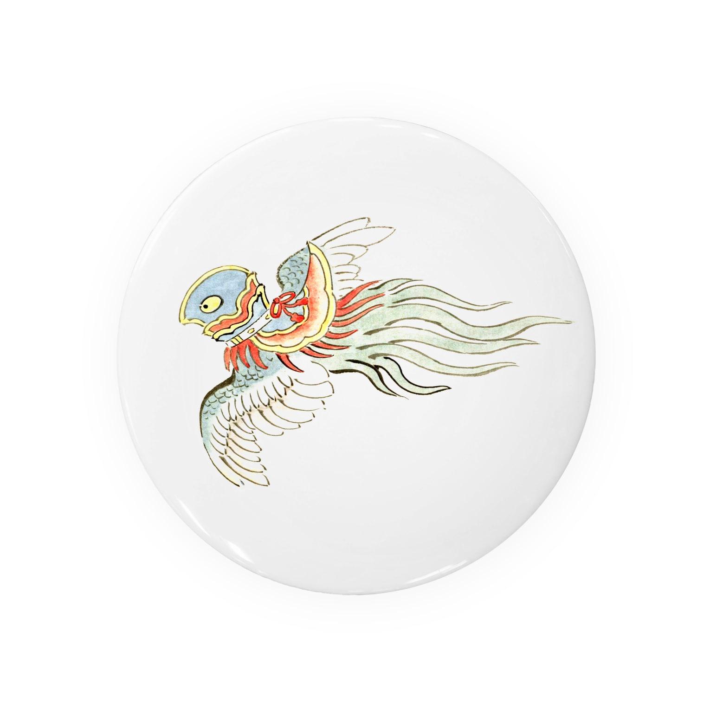和もの雑貨 玉兎の百鬼夜行絵巻 鳥兜の付喪神【絵巻物・妖怪・かわいい】 Badges