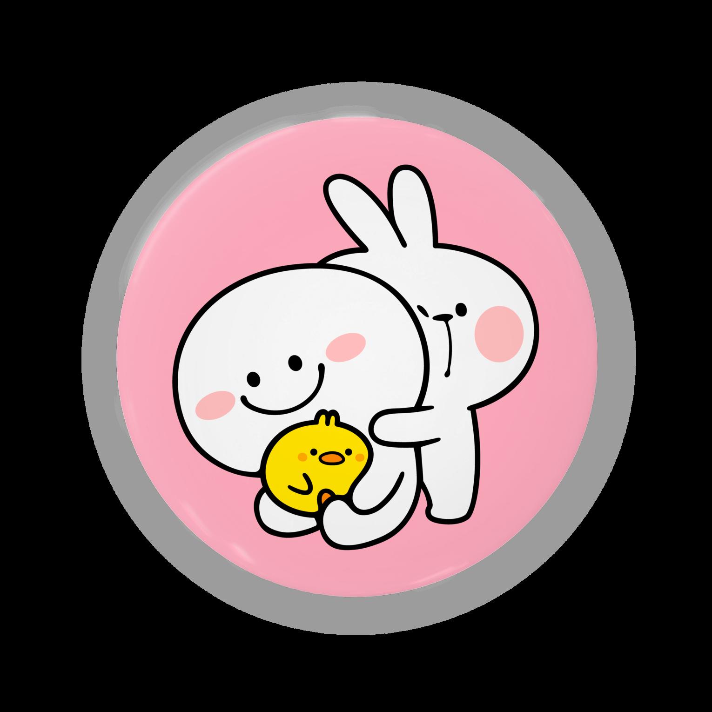 AKIRAMBOWのSpoiled Rabbit / あまえんぼうさちゃん缶バッジ