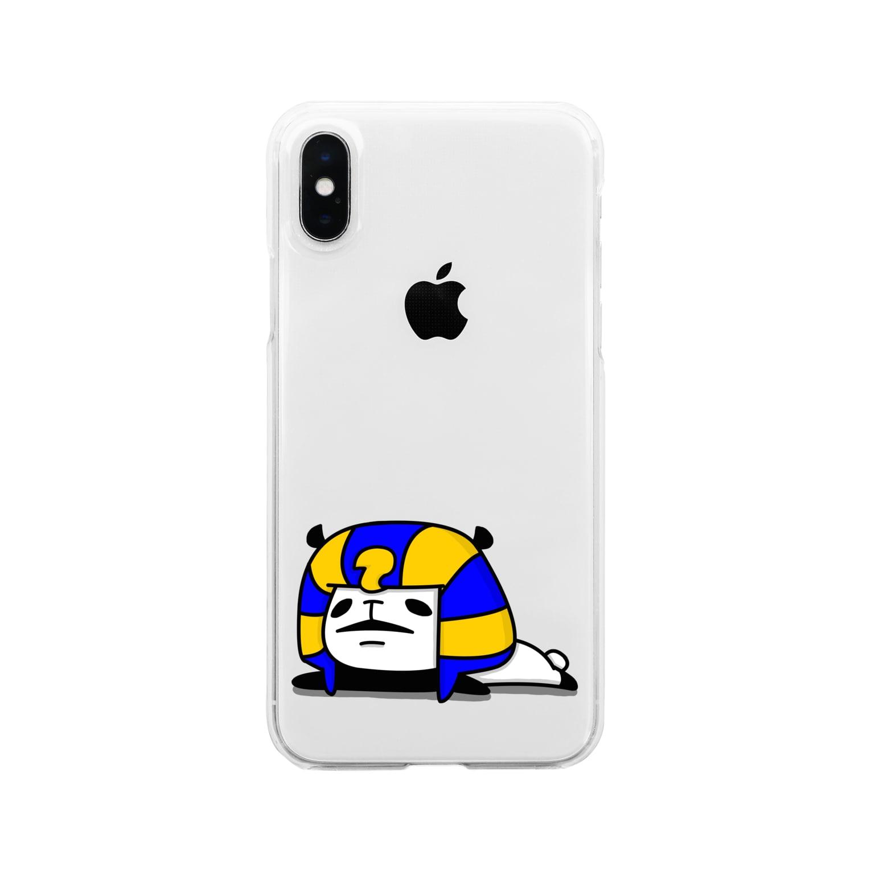 NEKOZE PANDAのツタンカーメンパンダ Clear smartphone cases