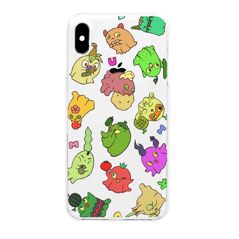 MIDUKIのやさいおばけだぞ~! Clear smartphone cases
