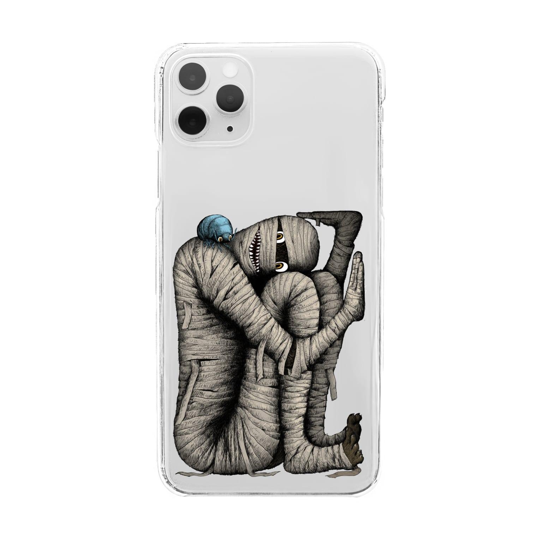 Dark blancoの箱詰めミイラ Clear smartphone cases