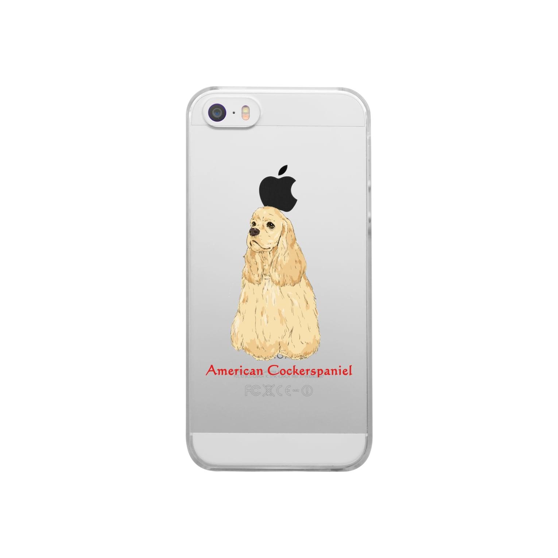 Saori  BTのAmerican Cockerspaniel Buff Clear smartphone cases