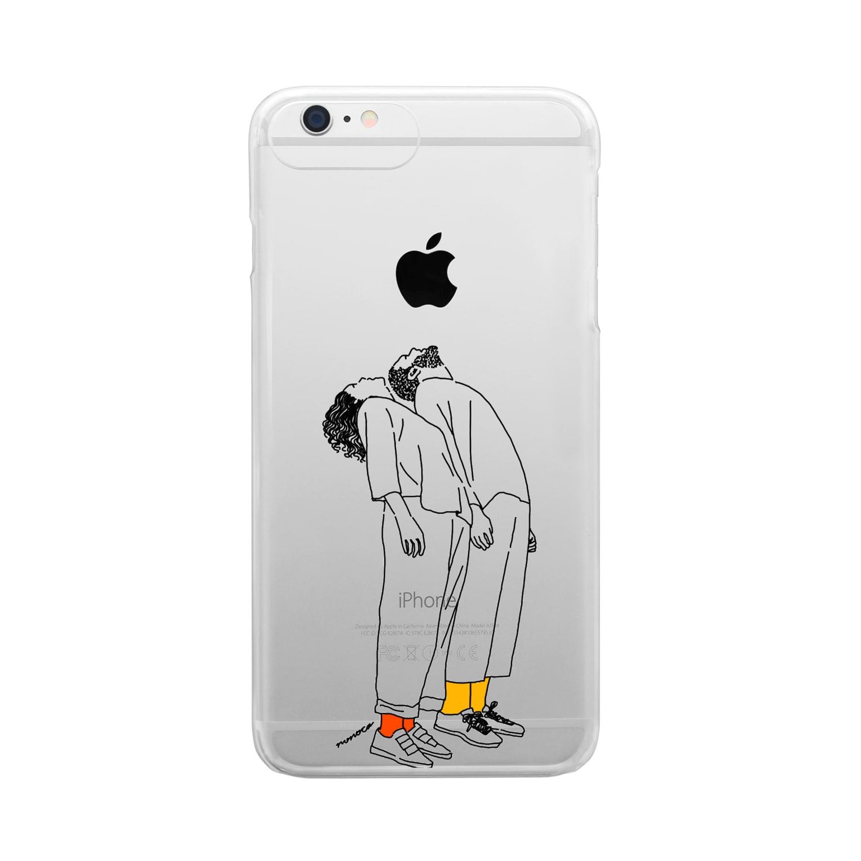 そうのさきのうえむき Clear smartphone cases