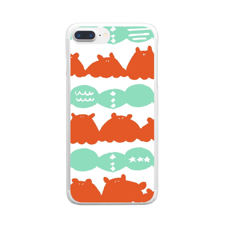 深海宇宙のあめとめんだこ Clear smartphone cases