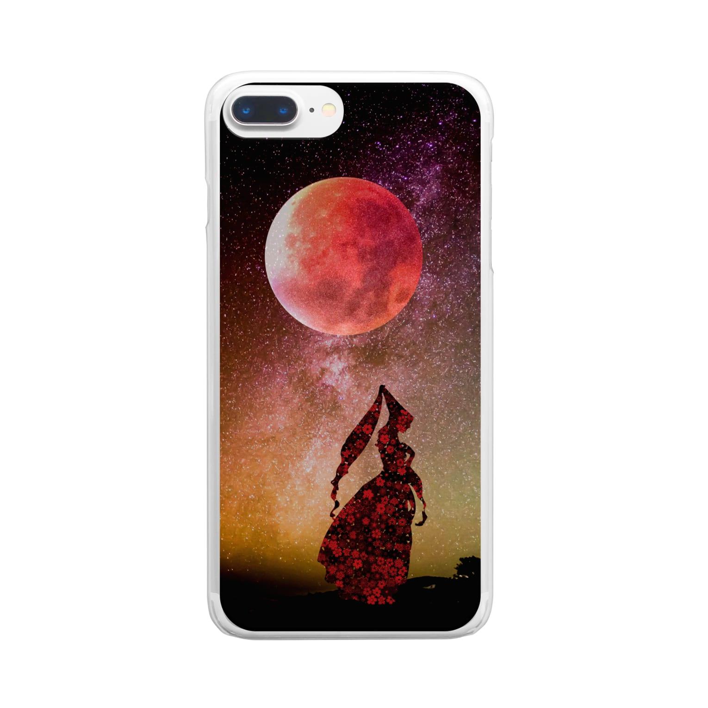 iPhonecakeのストロベリームーンと恋する魔女 Clear smartphone cases