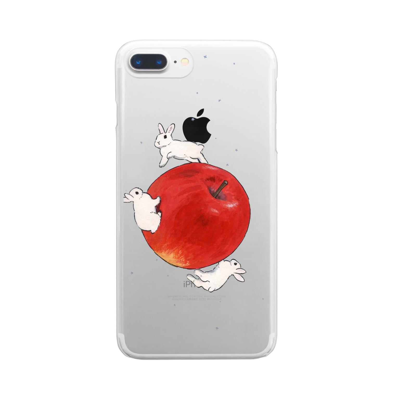 SCHINAKO'Sのアップル・プラネット Clear smartphone cases