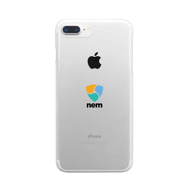 OWLCOIN ショップのNEM ネム Clear smartphone cases